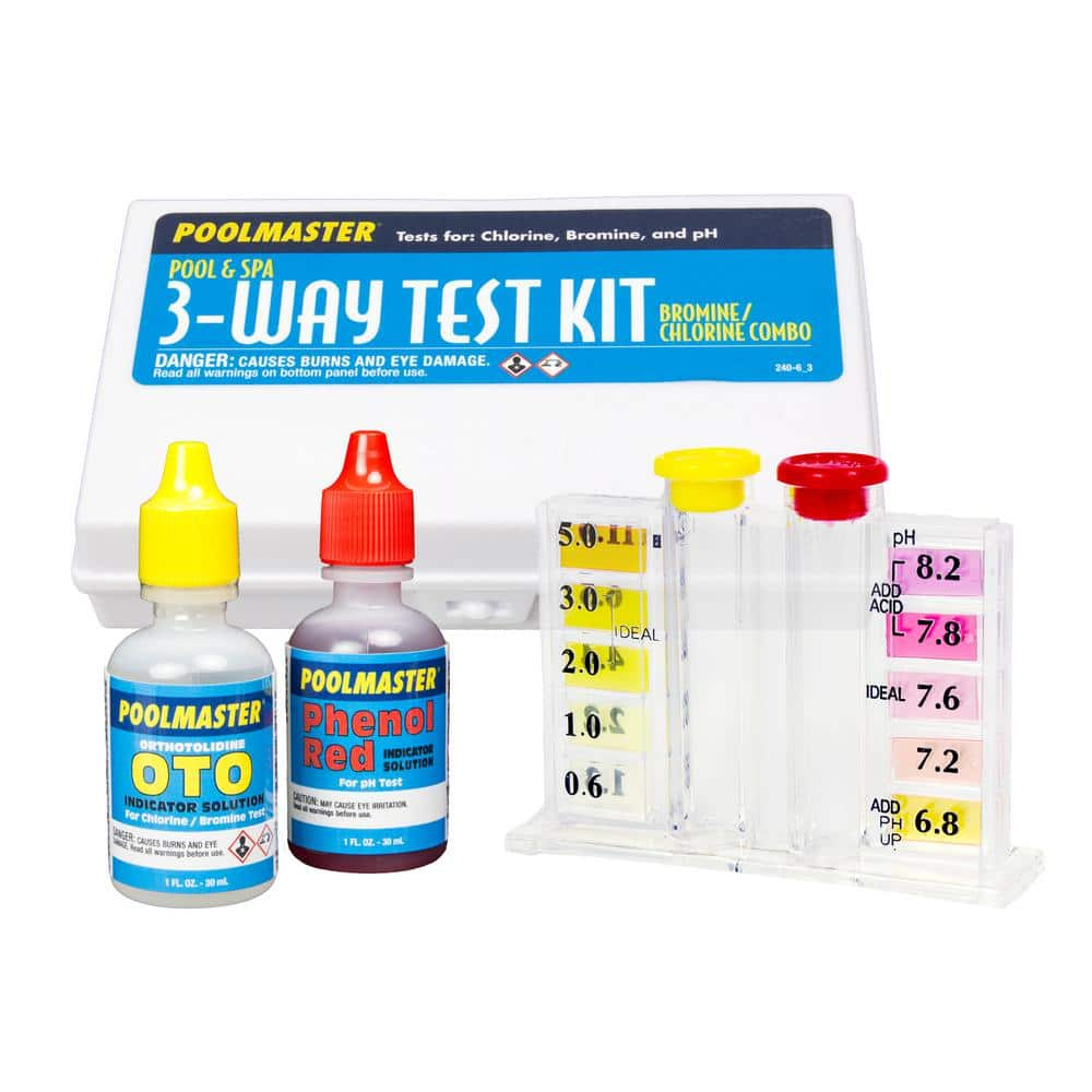 Poolmaster 3 Way Swimming Pool And Spa Water Test Kit With Case 22240 The Home Depot
