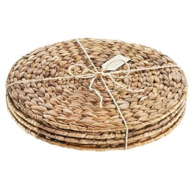 Garden Terrace Rd. Placemats, s/4, 13.5 in. Dia, Water Hyacinth