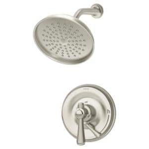 Degas Single Handle 3-Spray Shower Trim with Secondary Volume Control in Satin Nickel - 1.5 GPM (Valve not Included)