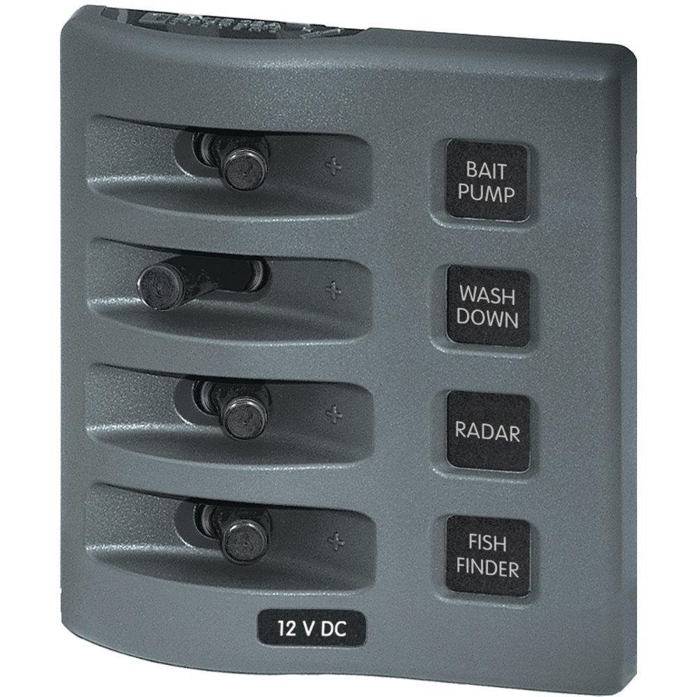 12-Volt WeatherDeck DC Waterproof Switch Panel - 4 Position