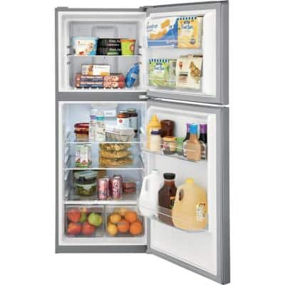 10.1 cu. ft. Top Freezer Refrigerator in Brushed Steel, ENERGY STAR