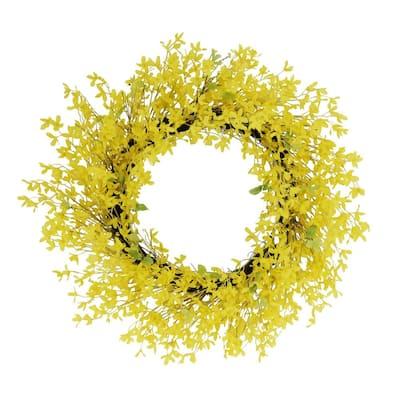 30 in. Artificial Winter Jasmine Floral Spring Wreath