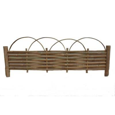 40 in. x 14 in. Brown Bamboo Edging with Loop Top