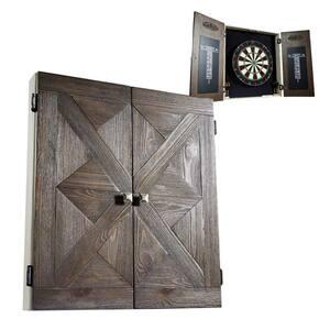 Bellevue Collection Premium Bristle Dartboard and Cabinet Set