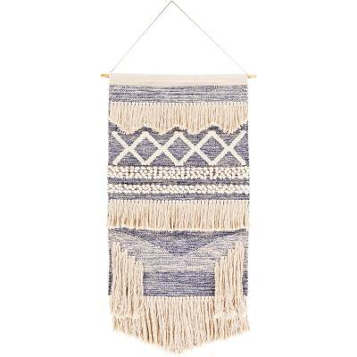 Rani 24 in. x 36 in. Bright Blue Wall Hanging
