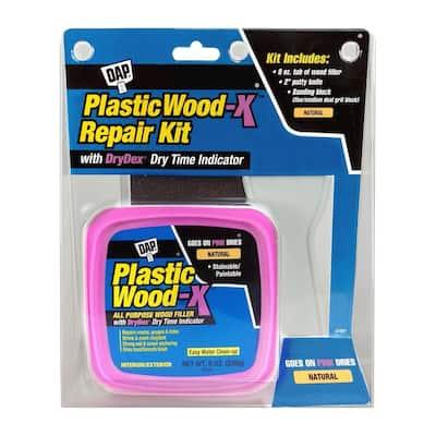 Plastic Wood-X with DryDex 8 oz. All Purpose Wood Filler Repair Kit (6-Pack)