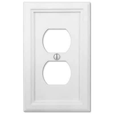 Elly 1 Gang Duplex Composite Wall Plate - White