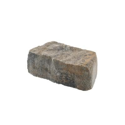 Mini Beltis 3 in. H x 8 in. W x 4 in. D Tan Charcoal Concrete Retaining Wall Block Pallet (378-Piece/Pallet)