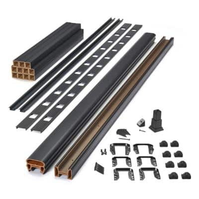 Transcend 8 ft. Composite Rail and Square Baluster Kit with Stair 42 in. Rail Height