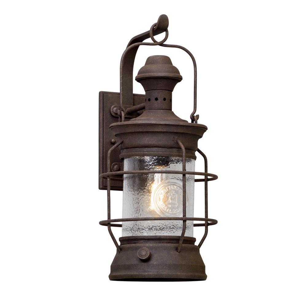 Atkins Centennial Rust Outdoor Wall Lantern Sconce