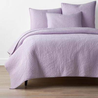 Company Lilac Solid King Cotton Quilt