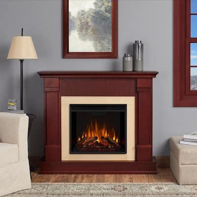 Silverton 48 in. Electric Fireplace in Dark Mahogany