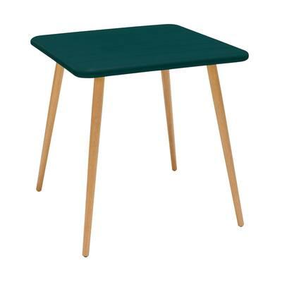 Nassau Green Square Plastic Eucalyptus Outdoor Dining Table