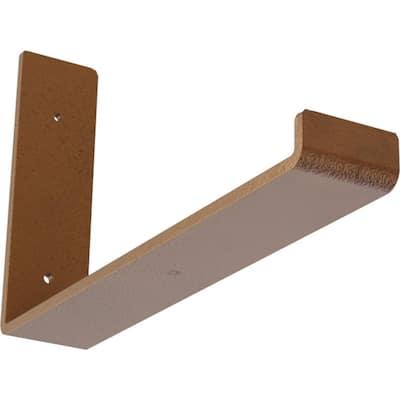 2 in. x 7 in. x 12 in. Hammered Copper Steel Hanging Shelf Bracket