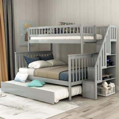 Bunk Beds Kids Bedroom Furniture The Home Depot