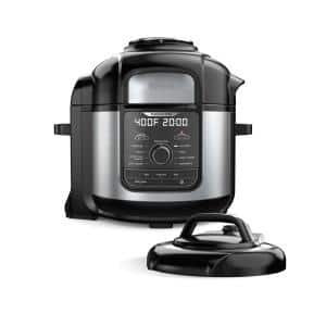 Foodi Deluxe 8-Qt. Black Electric Pressure Cooker with Air Fryer