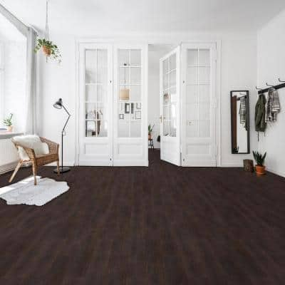 Nexus Espresso 36 in. W x 6 in. L Peel and Stick Vinyl Plank Flooring ( 15 sq. ft.)