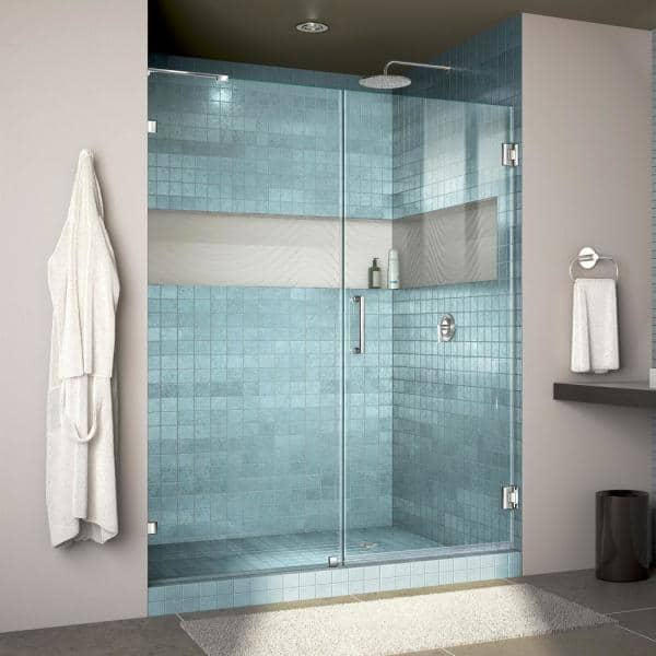 Dreamline Unidoor Lux 60 In X 72 In Frameless Hinged Shower Door In Chrome Shdr 23607200 01 The Home Depot