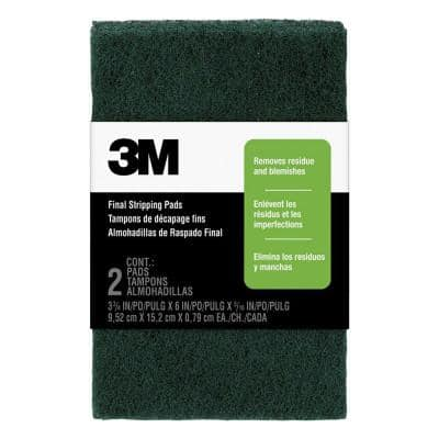 3-3/4 in. x 6 in. x 5/16 in. Final Stripping Pads (2-Pack)