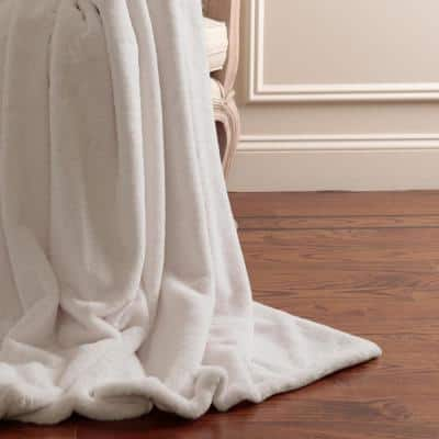 Luxe Taupe Polyester Throw Blanket