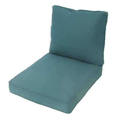 Spring Haven 25 in. x 48 in. Replacement Outdoor Lounge Chair Cushion in Charleston