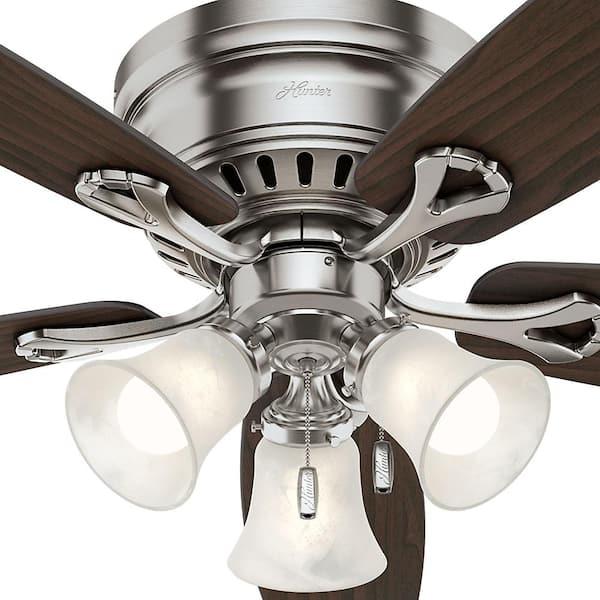 N4 Hunter Ceiling Fan For Parts Only Oakhurst #52125 Brushed Nickel