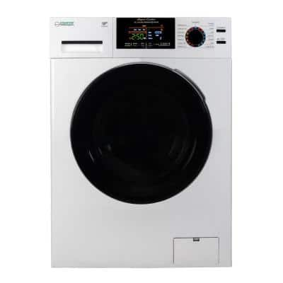 """24""""1.9 cu.ft. White All-In-One Washer Dryer Combo with Sanitize, Allergen, Winterize, Anti-Bacterial Drum Baffles - 2021"""