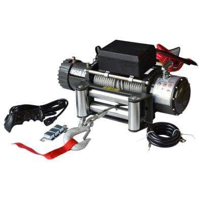 9500 lbs. Off Road Vehicle Electric Winch with Automatic Load-Holding Brake