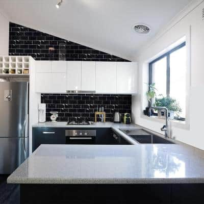 Nero Marquina Black 3 in. x 6 in. Polished Marble Wall and Floor Tile (1 sq. ft./Pack)