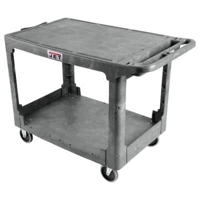 Jet 500 lbs. 44-in x 25-in Resin Flat Top Utility Cart, PUC-4425