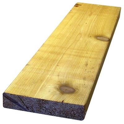2 in. x 6 in. x 8 ft. Premium S4S Cedar Lumber