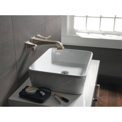 Dryden 2-Handle Wall Mount Bathroom Faucet in SpotShield Stainless (Valve Not Included)