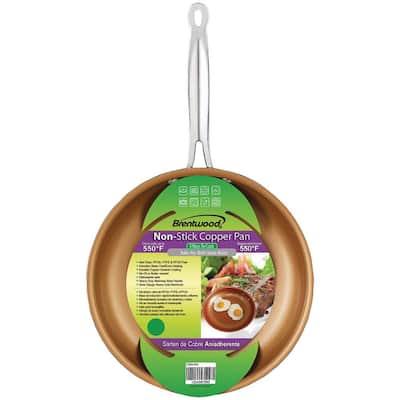 8 in. Copper Nonstick Frying Pan in Copper