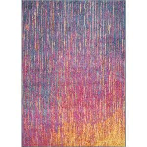 Passion Multicolor 4 ft. x 6 ft. Abstract Modern Area Rug