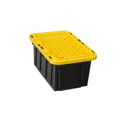 7 Gal. Tough Storage Bin in Black