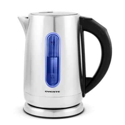 7.1-Cup Stainless Steel Electric Kettle with Touch Screen Control Panel