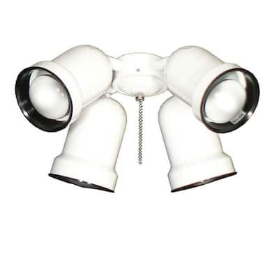 463 Spotlight Pure White Indoor/Outdoor Ceiling Fan Light