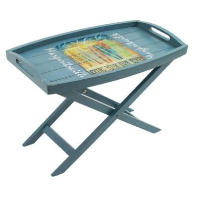 Bring Your Own Board Butler Wood Outdoor Patio Side Table