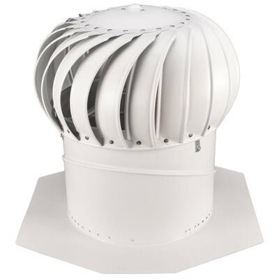 14 in. White Aluminum Internally Braced Whirlybird Wind Turbine