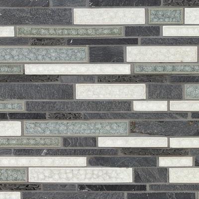 12x12 black slate tile natural