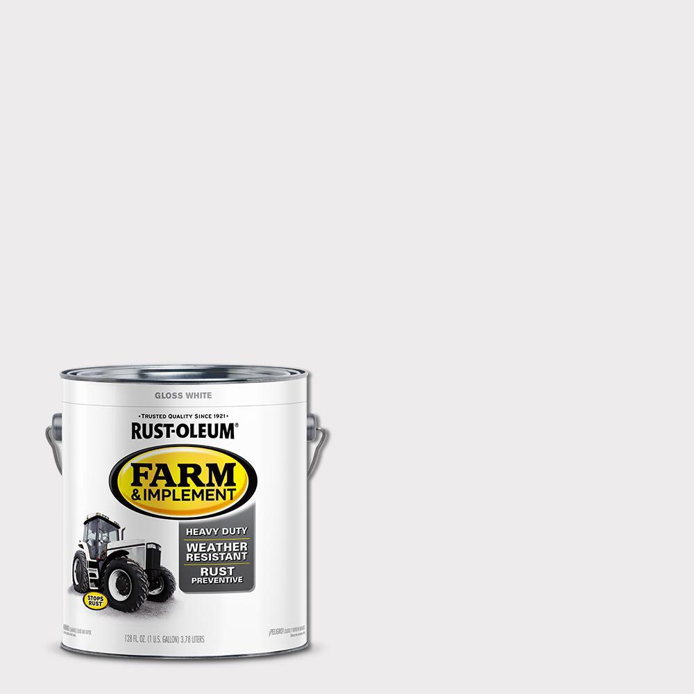 1 gal. Farm Equipment Gloss White Enamel Paint (2-Pack)