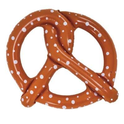 55.5 in. Giant Inflatable Pretzel Pool Ring Float
