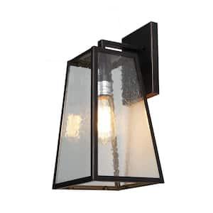 1-Light Oil Rubbed Bronze Outdoor Wall Lantern Sconce Light
