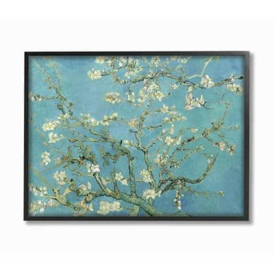 """16 in. x 20 in. """"Van Gogh Almond Blossoms Post Impressionist Painting"""" by Vincent Van Gogh Framed Wall Art"""