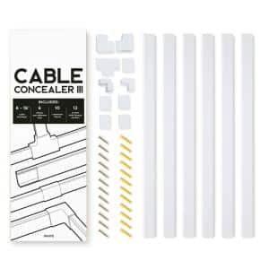 On-Wall Cable Concealer Management Kit