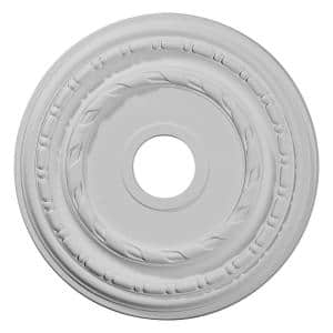 17-7/8'' x 3-5/8'' I.D. x 1-1/4'' Dublin Urethane Ceiling Medallion (Fits Canopies upto 5-1/8''), Primed White