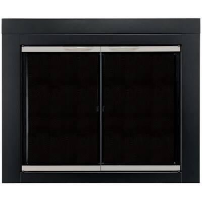 Alsip Medium Glass Fireplace Doors