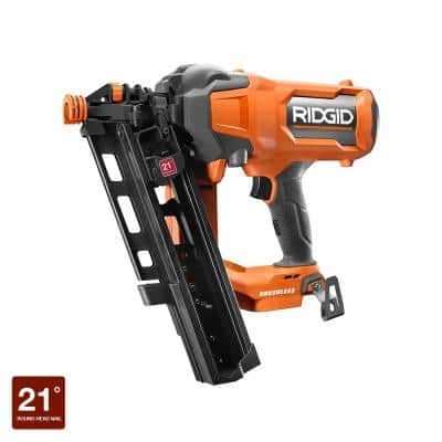 18V Lithium-Ion Brushless Cordless 21° 3-1/2 in. Framing Nailer (Tool Only)