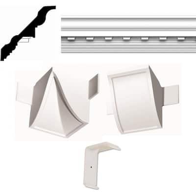 Concord Dentil QC 13 ft. x 20 ft. Crown Moulding Room Kit