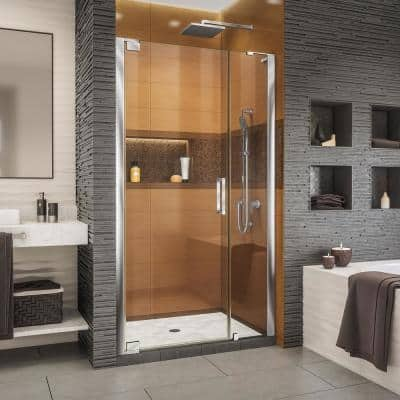 Elegance-LS 37 in. to 39 in. W x 72 in. H Frameless Pivot Shower Door in Chrome